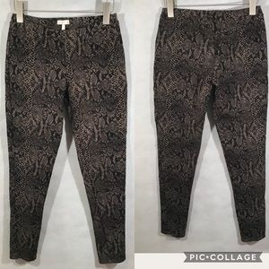 Joie Snake Print Leggings Size Large Brown Tan